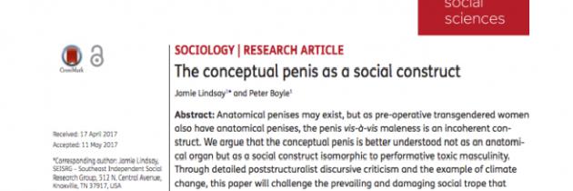 """Znanstveni """"nateg"""" o konceptualnem penisu"""