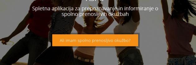 Prva interaktivna aplikacijo v Sloveniji o spolno prenosljivih okužbah