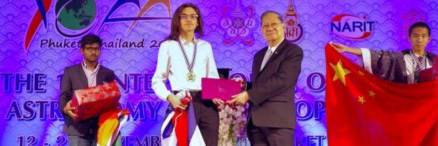 Zmaga študenta Alekseja Jurca na 11. mednarodni olimpijade iz astronomije in astrofizike