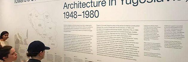 Otvoritev razstave povojne jugoslovanske arhitekture v muzeju MoMA