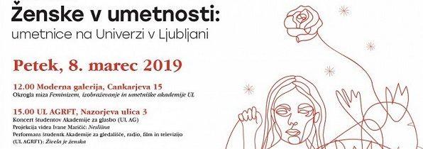 Ženske v umetnosti: Umetnice na Univerzi v Ljubljani