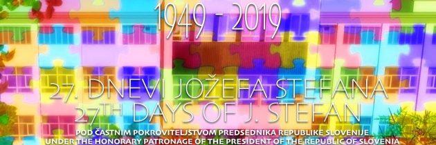 Dnevi Jožefa Stefana ob 70. obletnici inštituta