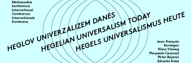 Mednarodna filozofska konferenca: Heglov univerzalizem danes