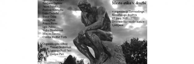 Mesto etike v družbi