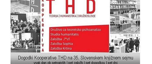Dogodki Kooperative THD na Slovenskem knjižnem sejmu