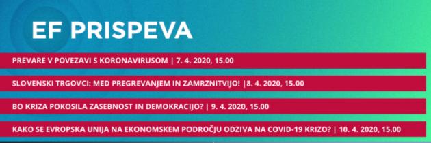 Ekonomska fakulteta Univerze v Ljubljani pripravlja spletne pogovore z zanimivimi temami