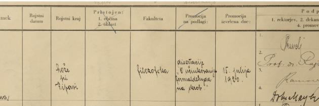 »Dr. Anka Mayer. Njene prehodnice in naslednice (1911–1931)«