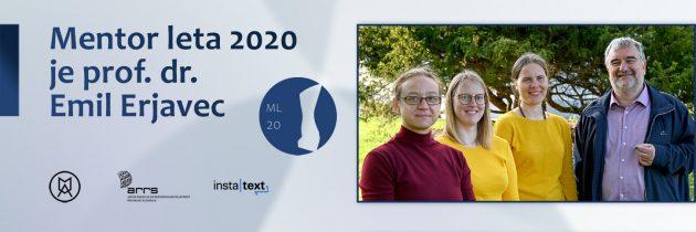 Prof. dr. Emil Erjavec  mentor leta  2020