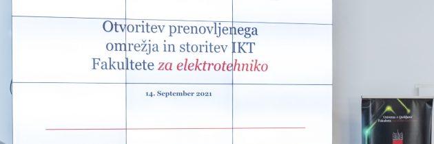 Fakulteta za elektrotehniko z enim najsodobnejših sistemov IKT v Sloveniji in regiji